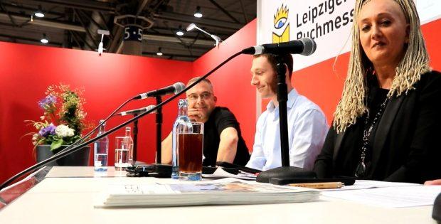 """Die Buchmesse-Debatte """"Lehrer unter Druck"""" von der Initiative """"Leipzig liest weltoffen"""". Foto: L-IZ.de"""