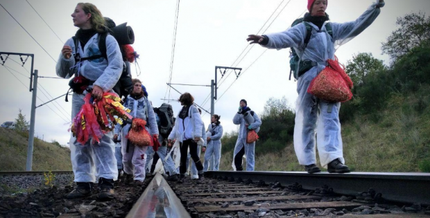 Während der Widerstand vor Ort wächst, klagt Greenpeace auf Herausgabe von Informationen zur Zeit nach der Kohle. Foto: Ende Gelände