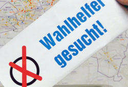 Wahlhelferaufruf. Foto: Stadt Leipzig