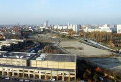 Das Baugelände am Bayerischen Bahnhof. Foto: Matthias Weidemann