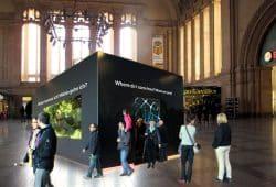Visualisierung der Black Box in der Osthalle des Hauptbahnhofs. Foto: Ute Puder