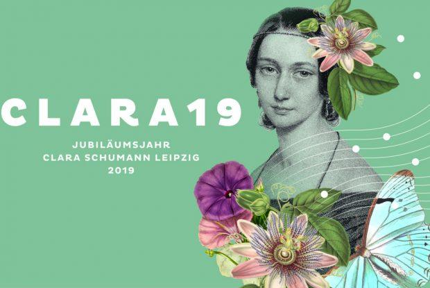 Kampagnenmotiv zu 200 Jahre Clara Schumann. Grafik: Stadt Leipzig