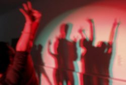 Schattenprojektion: StudioVisits. Foto: Atelier Coeln