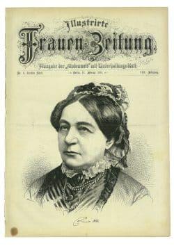 """""""Frauen-Zeitung""""mit dem Bildnis von Louise Otto-Peters auf dem Titel. Foto: Louise-Otto-Peters-Gesellschaft"""