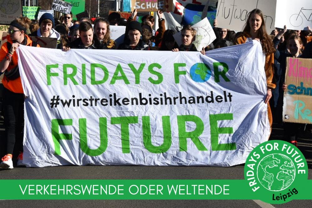 Das Plakat zur Demo am 15. März. Grafik: Fridays For Future Leipzig