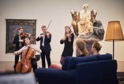 """""""Beethoven bei uns"""" mit dem Gyldfeldt Quartett im Museum der bildenden Künste, Foto: Daniel Reiche"""
