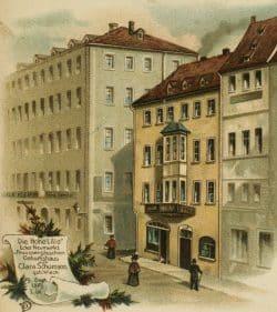 """Claras Geburtshaus """"Hohe Lilie"""" am Neumarkt. Foto: Robert-Schumann-Haus Zwickau"""