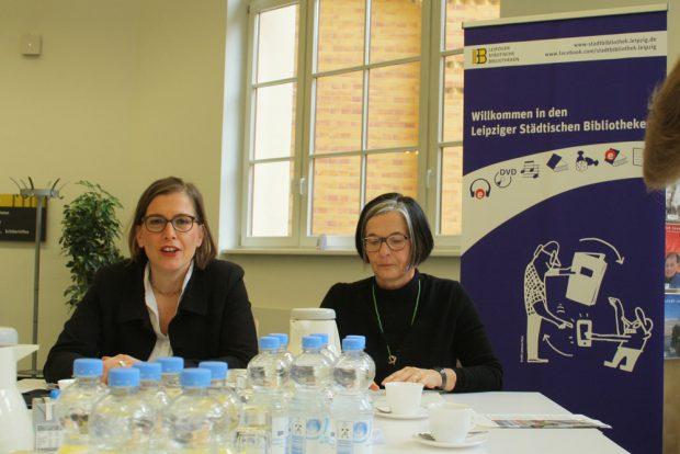 Pressekonferenz mit Skadi Jennicke uns Susanne Metz. Foto: Ralf Julke