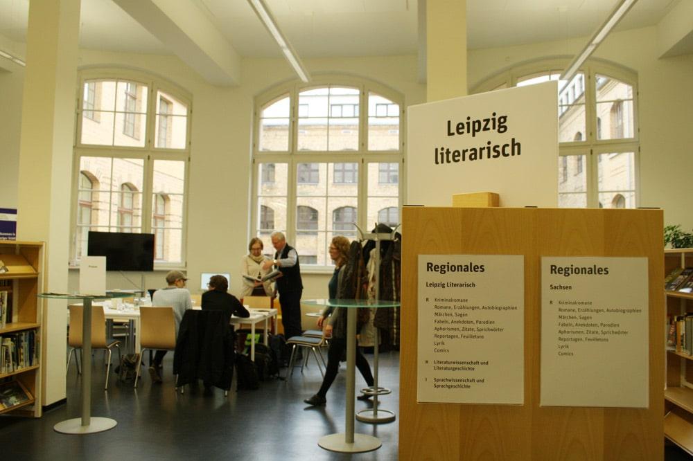 Das künftige LeipzigZimmer in der Stadtbibliothek. Foto: Ralf Julke