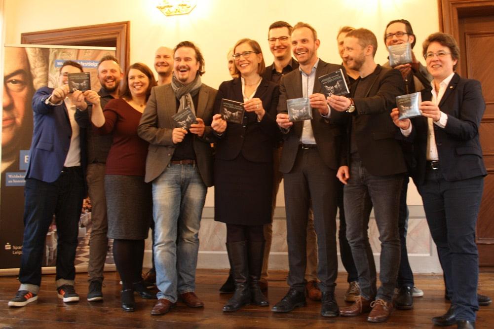 """Singender Jubel: Die CD """"Leipziger Disputation"""" ist fertig. Foto: Ralf Julke"""
