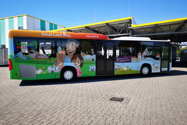 Grimmaer Stadtbus. Foto: Regionalbus Leipzig GmbH