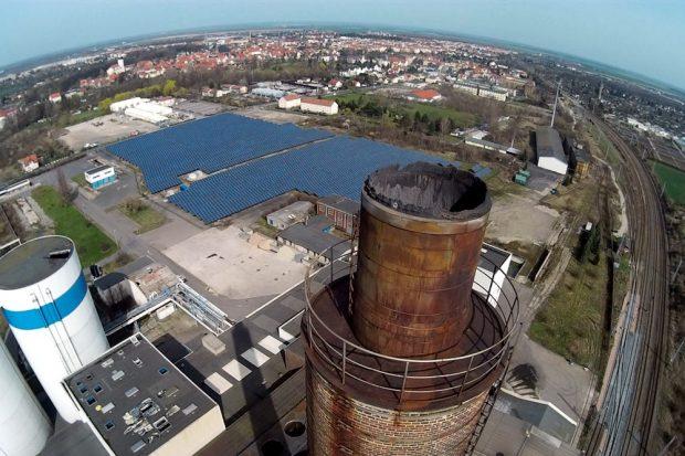 Die Anlage in Delitzsch von oben. Foto: Bürgerverein Sauberes Delitzscher Land