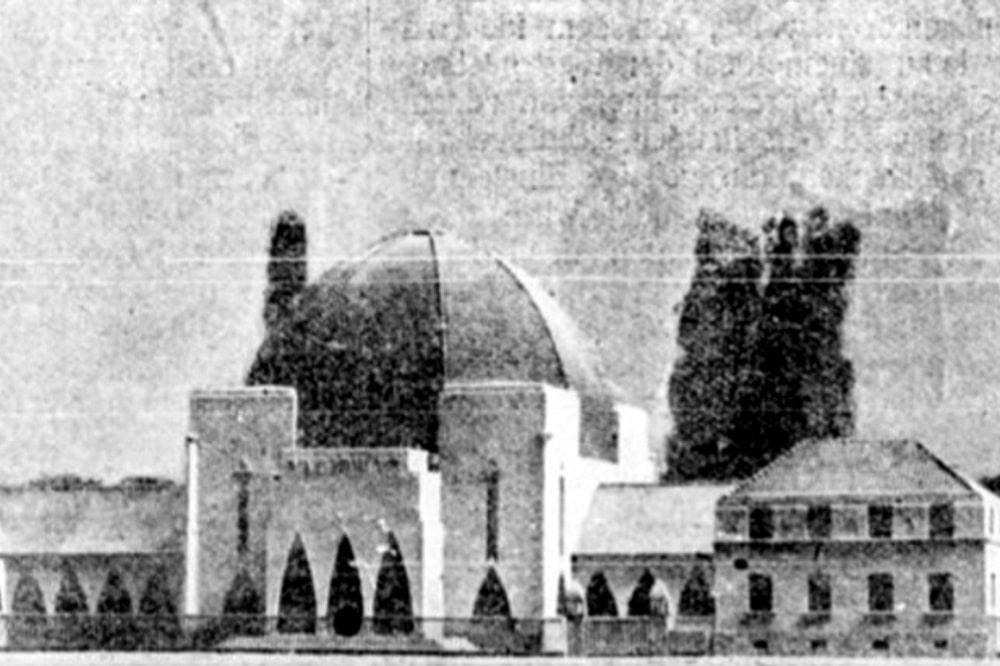 Das Architekturmodell der Einsegnungshalle. Bild: Gemeindeblatt der Israelitischen Religionsgemeinde Leipzig, 1925, Fotograf unbek.
