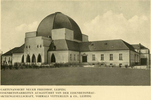 Der architektonisch einzigartige Bau in Leipzig. Foto: Aus der Monografie von Max Reimann, 1932, Fotograf unbek.