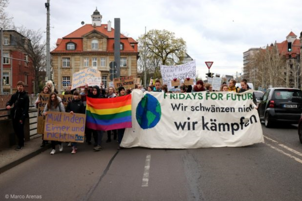 Fridays for Future am 12. April in Leipzig. Foto: Marco Arenas