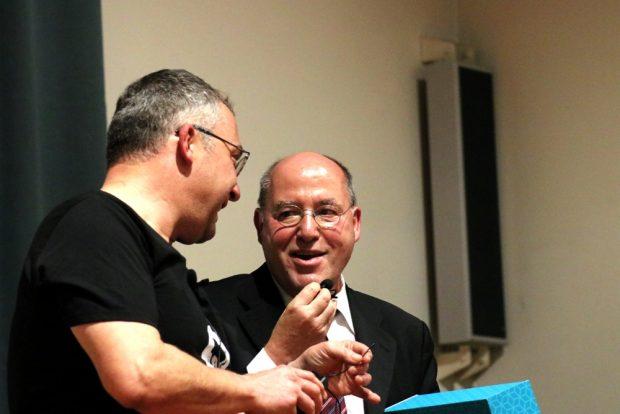 """Gregor Gysi im November 2018 in der """"Schiller-Akademie"""". Foto: Michael Freitag"""