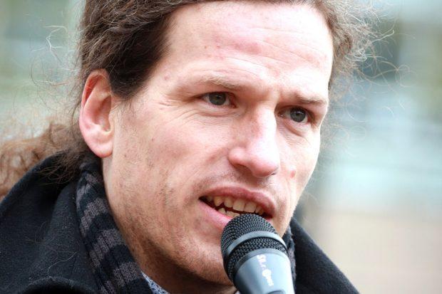 Jürgen Kasek bei Fridays for Future. Foto: Marco Arenas