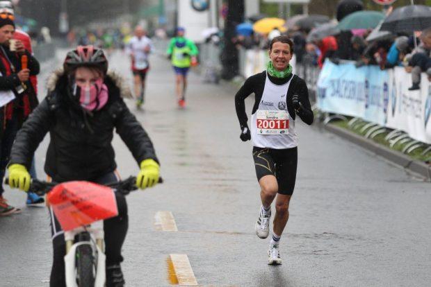 Sandra Boitz (SC DHfK Leipzig) war beim Halbmarathon die schnellste Frau. Foto: Jan Kaefer