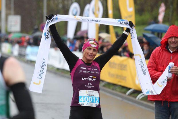 Yvonne van Vlerken (Niederlande) gewann den Marathon der Frauen. Foto: Jan Kaefer