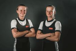 Ruder Zwillinge Marion und Johanna Reichardt. Quelle: SC DHfK