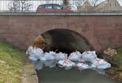 Bigpacks an der Holzstraßen-Brücke. Foto: Stadt Delitzsch/ C. Maurer