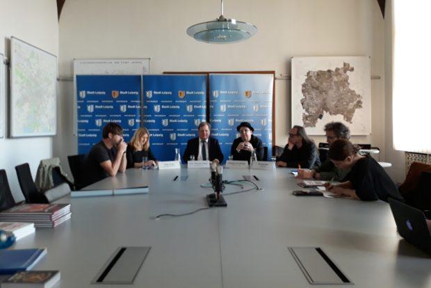 Pressekonferenz im Neuen Rathaus. Foto: René Loch