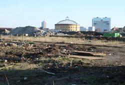 Eutritzscher Freiladebahnhof: Auch hier sollen 30 Prozent Sozialwohnungen entstehen. Foto: Ralf Julke