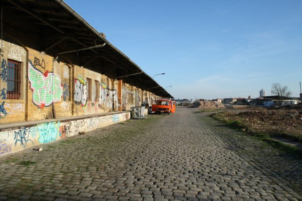Was vom alten Freiladebahnhof übrig blieb ... Foto: Ralf Julke