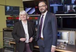 Prof. Dr. Gabriele Hooffacker und Prof. Dr. Marc Liesching von der HTWK Leipzig. Foto: HTWK Leipzig