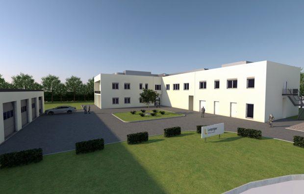 Neubau Trinkwasserlabor: Die Fertigstellung ist für Mitte 2020 geplant. Foto: Leipziger Gruppe