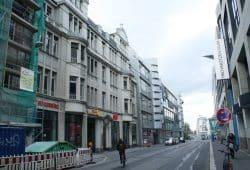 Rosa-Luxemburg-Straße - Blick Richtung Friedrich-List-Platz. Foto: Ralf Julke