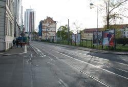 Rosa-Luxemburg-Straße - Blick Richtung Hahnekamm. Foto: Ralf Julke