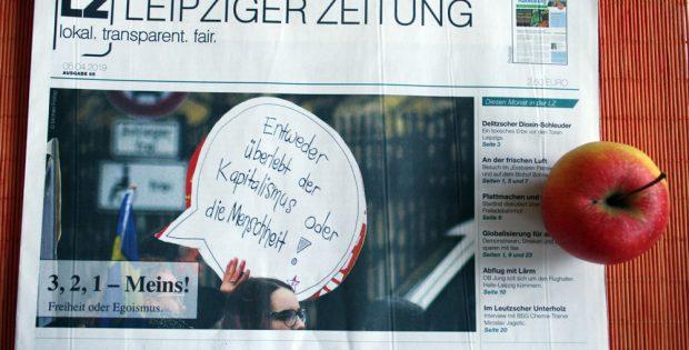 Freiheit oder Egoismus: Leipziger Zeitung Nr. 65. Foto: L-IZ