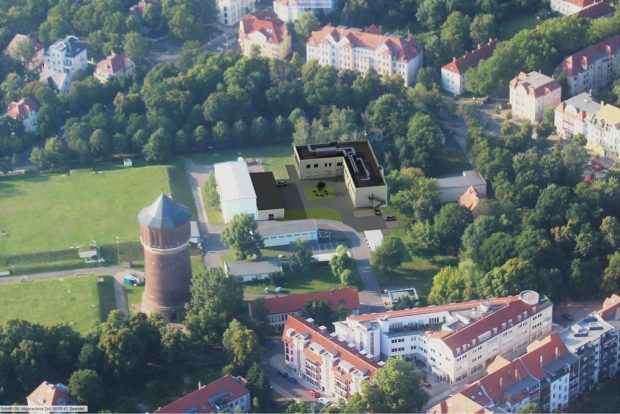 Meilenstein 2019: Auf dem Gelände der Wasserversorgungsanlage Probstheida errichten die Leipziger Wasserwerke ein neues Trinkwasserlabor. Foto: Leipziger Gruppe