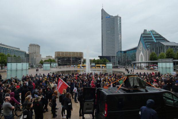 27. Mai 2019: Beginn der Demo am Augustusplatz. Foto: Lucas Böhme