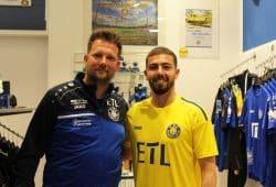 Neuzugang Aykut Soyak und Björn Joppe. Foto: 1. FC Lok