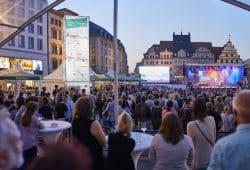 BachStage auf dem Leipziger Markt. © Bachfest Leipzig / www.malzkornfoto.de