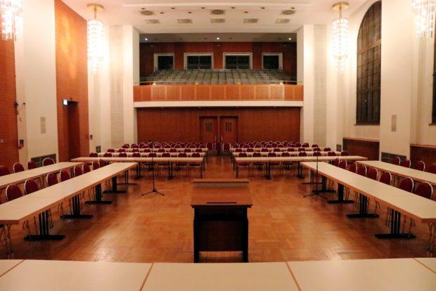Der Festsaal neben dem Stadtratssaal. Ab Juni 2019 für mindestens ein Jahr das neue Zuhause des Stadtrates. Foto: L-IZ.de