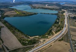 Hainer See und Haubitzer Bucht. © LMBV/Radke