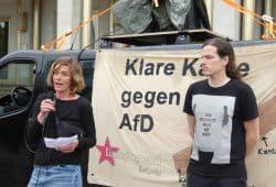 Jürgen Kasek (Grüne) und Juliane Nagel (Linke). Foto: Lucas Böhme