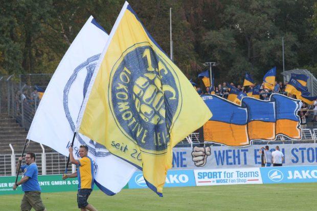 Stadionatmosphäre beim 1. FC Lok. Foto: Jan Kaefer