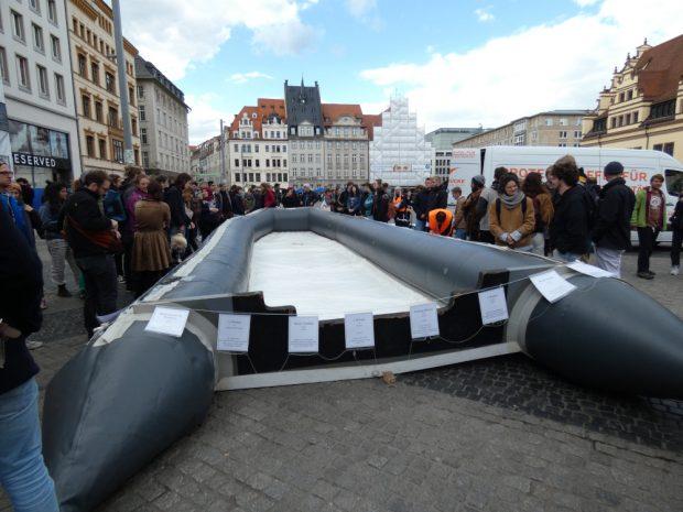 Die Aktion rief einiges Interesse hervor. Foto :Lucas Böhme