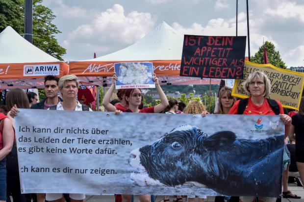 Archivbild: Stuttgart für die Schließung aller Schlachthäuser 2018. Foto: Johnny Ho
