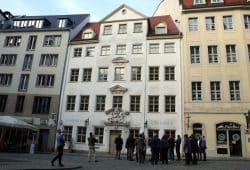 """Das """"Haus zum Arabischen Coffe Baum"""". Foto: Ralf Julke"""