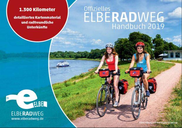 Offizielles Elberadweg Handbuch 2019. Cover: elberadweg.de