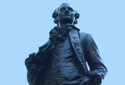 Goethedenkmal auf dem Naschmarkt. Foto: Ralf Julke