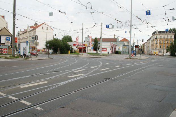 Die Kreuzung am Adler. Archivfoto: Ralf Julke
