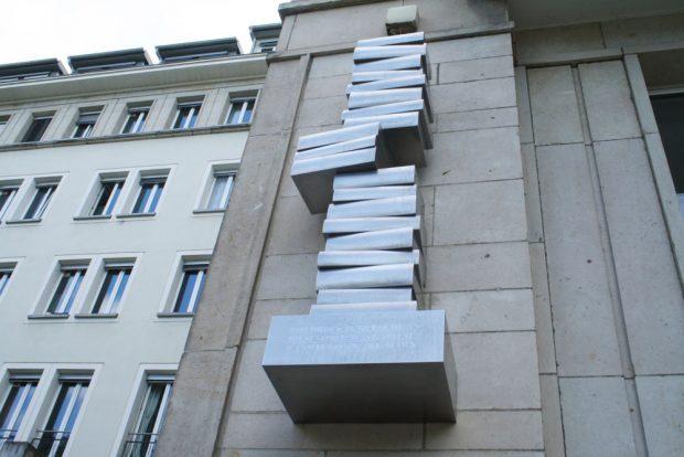 Die Skulptur von Philipp Fritzsche in der Nürnberger Straße. Foto: Ralf Julke