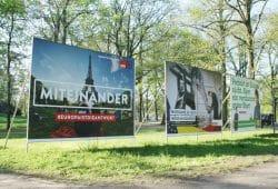 Wahlplakate am Clara-Zetkin-Park. Foto: Ralf Julke