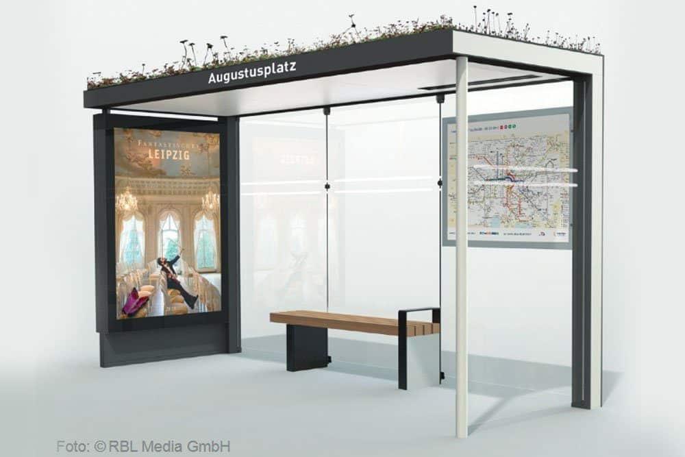 Das neue Leipziger Wartehäuschen. Foto: RBL Media GmbH